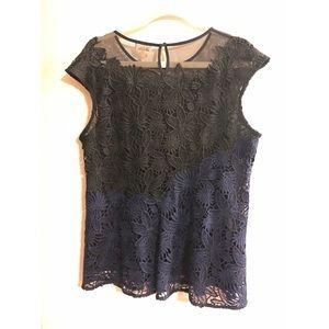 Gorgeous Black & Blue blouse